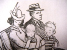 image of a drawn family