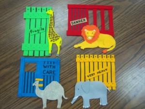 """""""Dear Zoo"""" flannelboard pieces"""