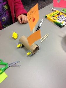 paper roll car with sail