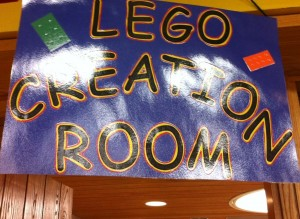 sign of the lego creation room