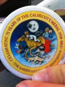 Caldecott 75 button