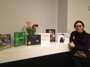 A bit exhausted (but exhilarated) posing with the 2013 Caldecott selections.