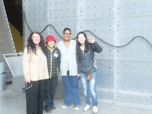 LAPL librarians learn about balls, ramps and rollercoasters at the CA Science Center.