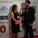 interview being conducted on the red carpet