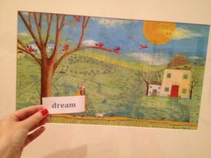 Pamela Zagarenski's scene from Red Sings From Treetops is part of the Play, Pretend, Dream exhibit at the AIC.