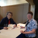 Temple Grandin signing my book after her presentation