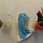 crafting supplies on table