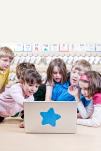 Kids using the computer