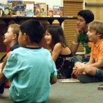Kids enjoying read aloud