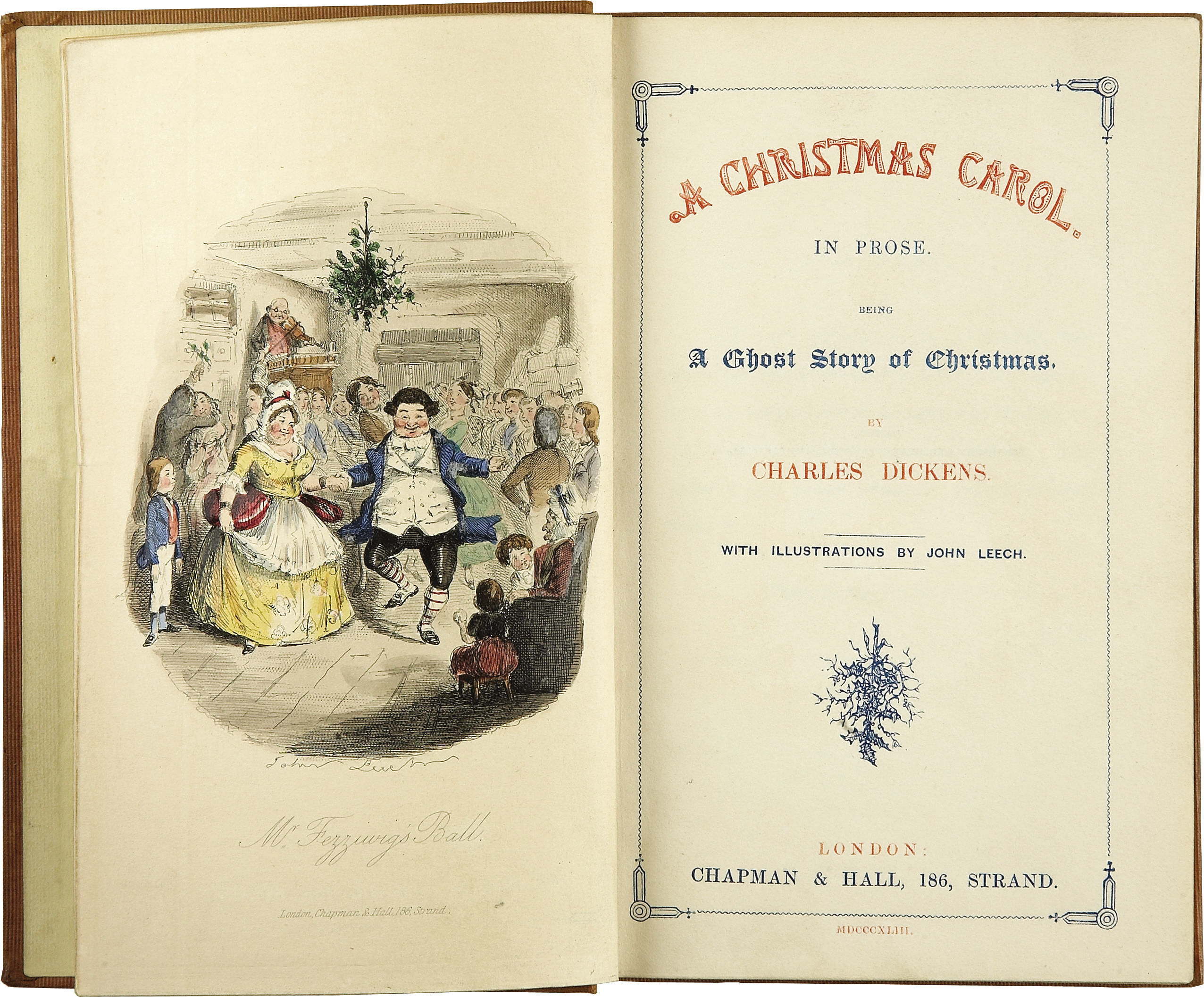A christmas carol in prose,charles dickens~deluxe silk facs/1843.