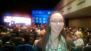 Amy Seto Musser just before the announcements!  Can you see the excitement on my face?
