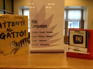 New Signage for the Kids Languages Collection, courtesy of the author.