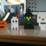 halloween shapes made with legos