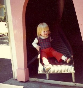 Nina Lindsay, Institute Chair, enjoys Children's Fairyland, circa 1974
