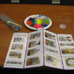 loom bracelet materials set up with directions