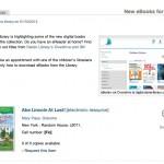 Virtual booklist of new eTitles