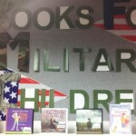book display for military related children's titles