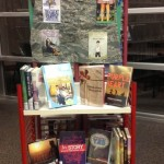 book display for military related teen titles