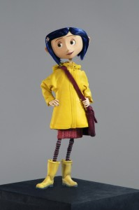 Movie Coraline, blue hair and wellies at the ready.