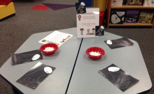 Science Explorer Table at the NAFC Library. Photo by Abby Johnson.
