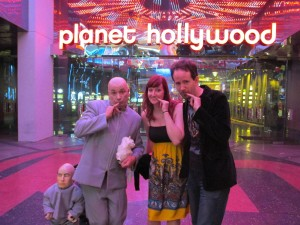 My husband and I meet a Mike Myers Dr. Evil look-alike on the Vegas strip