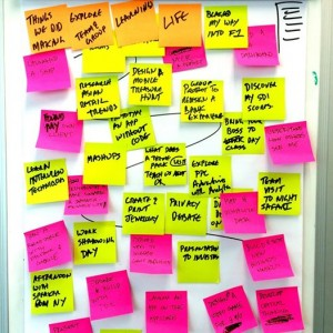 "Image from creative commons reuse search ""post its"" - source Hyper Island FB"