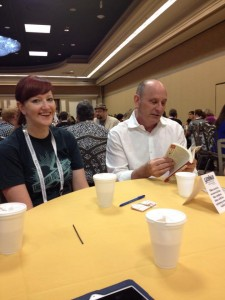 Rikki Unterbrink and Jon Scieszka at the YALSA Coffee Klatch