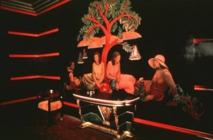 """The """"women's smoking lounge"""" at the Paramount theater. Photographer: Cathe Centorbe"""