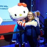 Margo Tanenbaum receives a hug from the famous Kitty
