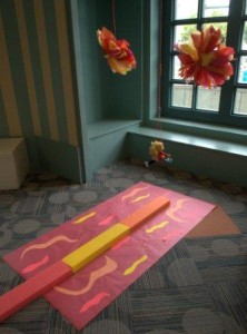 The Lava Pit from the Superhero Training Academy at Denver Public Library. Photo courtesy of Kahla Gubanich.