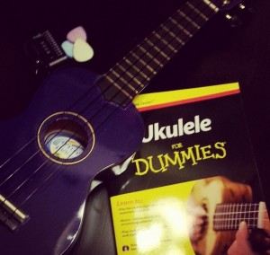 My resolution: learning the ukulele. [Photo courtesy of the author, originally posted on Instagram.]