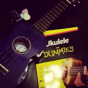 [Ukulele & accessories. Image courtesy of the author; originally posted on Instagram.]