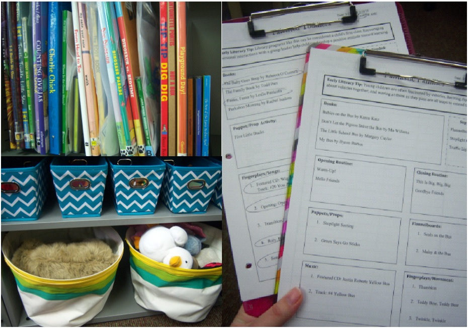 Desktop organizers (upper left), cloth bins (lower left), and clipboards (right). [Photo courtesy of the author.]