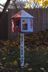 Mini-library in Slatterly Park, Rochester, MN.