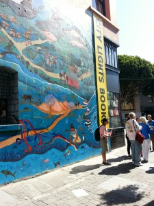 SORT Literary Walking Tour outside City Lights Books