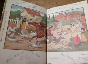 Angela's Caldecott memory book signed by fellow committee members