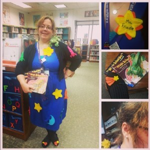 [Author dressed as Ms. Frizzle for Halloween in 2013. Photo courtesy of the author.]