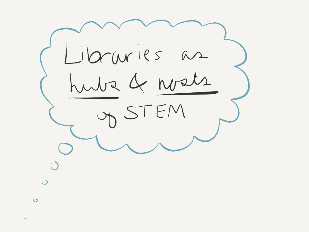 Libraries are hubs & hosts of STEM. (Image by Amy Koester)
