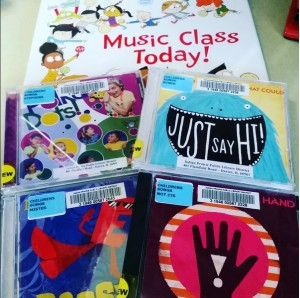 New recorded music arrived at the library today! [Photo courtesy of the author.]