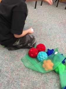 playing with sensory balls