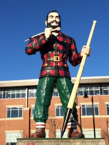 Paul Bunyan greets MLA conference attendees on a beautiful Maine morning.