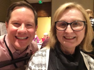 Quick selfie with Betsy during a break at the Information Policy Workshop at Midwinter.