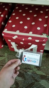 Up-close picture of a Parenting Pack from the Parent Teacher Collection. [Photo courtesy of the author.]