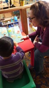 Volunteer with Preschooler. Photo taken by Eva Thaler-Sroussi
