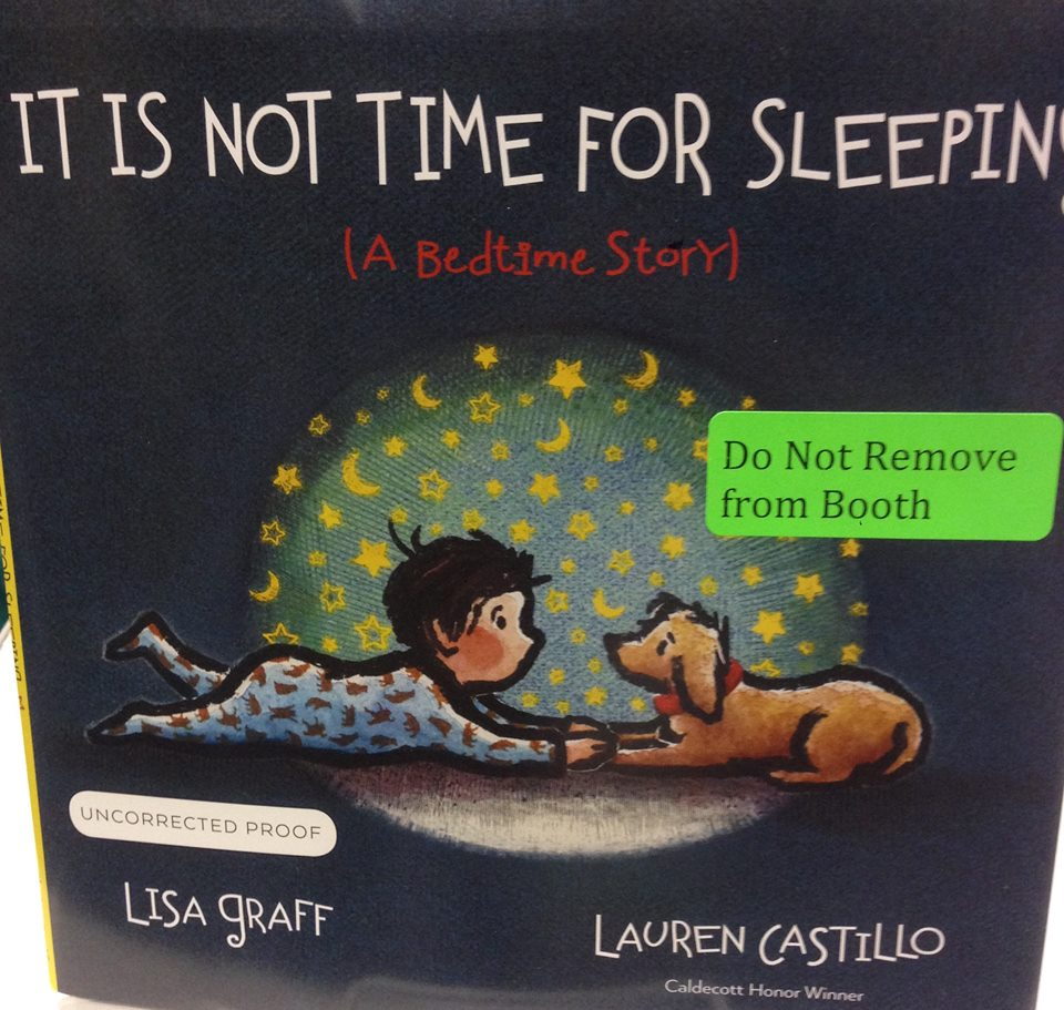 It Is Not Time For Sleeping, by Lisa Graff