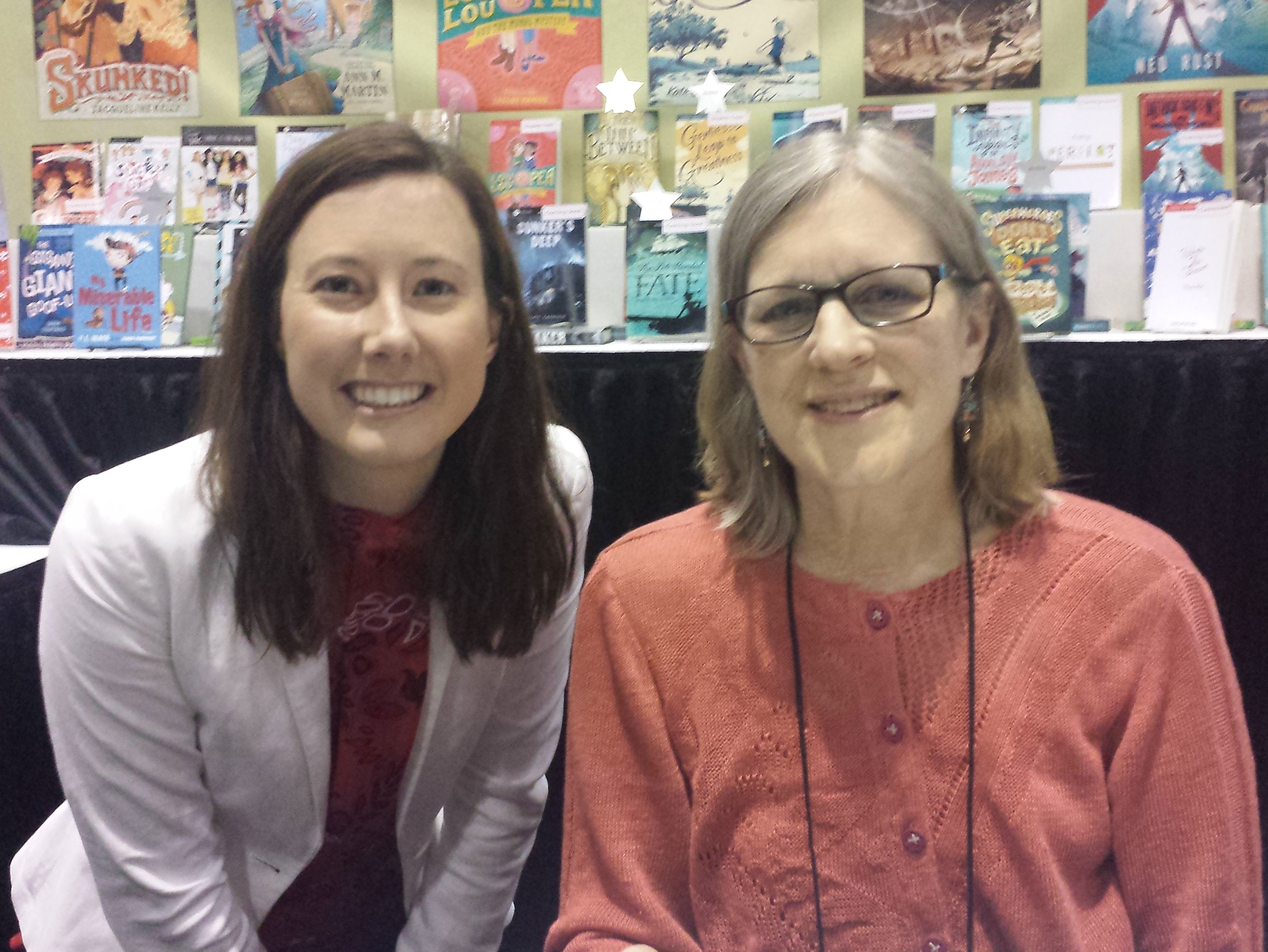 The blogger with Ann M. Martin