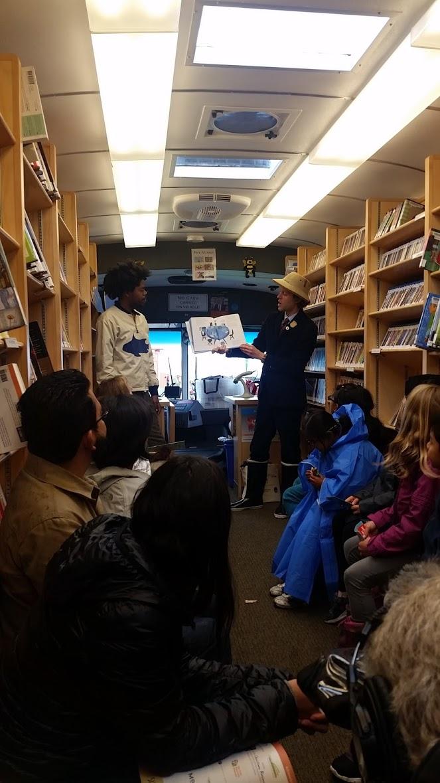 Author Mac Barnett reads Leo: A Ghost Story with illustrator Christian Robinson on the SFPL Bookmobile