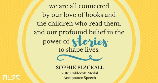 Download Sophie Blackall's 2016 Caldecott Medal Speech