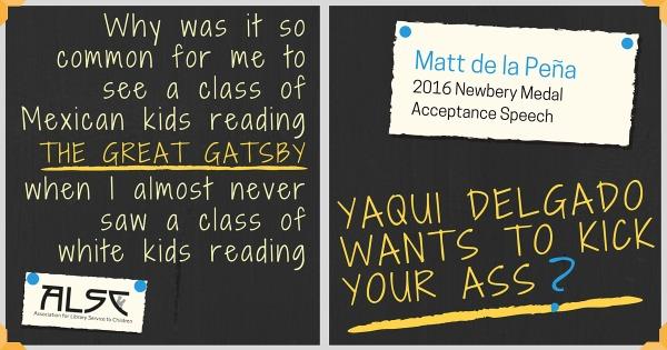 Download Matthew de la Peña's Newbery Acceptance Speech