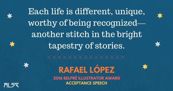 Download Rafael Lopez' Belpre Acceptance Speech